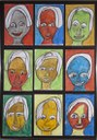 Gesichter und Farben